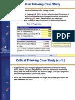 Critical Thinking Case Study - Kidney Stone Treatment