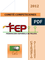 Calendario competiciones Aficionadas 2012