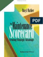 Maintenance Score Card