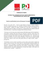 """""""Avanti con gli Eurobond, serve un'Europa per l'occupazione e la crescita"""""""