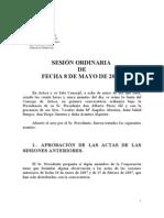 SESION ORDINARIA DE FECHA 08/05/2007