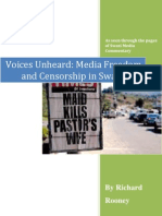 Unheard Voices, Media Freedom and Censorship in Swaziland - Richard Rooney
