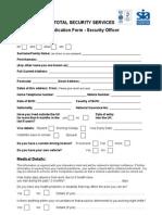 TSS 30 - Application Form - SO