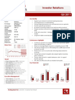 Sterling Bank Q3 2011 Investor Factsheet