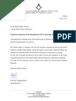 2011 11 12 GL Lituanie Suspend Sa Reconnaissance de GLNF