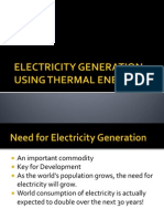 Electricity Generation Using Thermal Energy 2