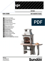 Assembly Manual of Masonry Stone Charcoal Grill BBQ Congo