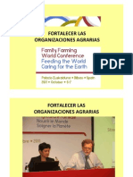 Report on Working Groups Strengthening Family Farminng Organizations