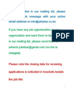 Job Opportunities Kenya September 26 - October 1