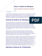 Metodos de Eliminar el Sulfuro de Hidrógeno