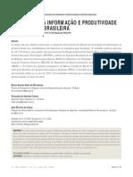 TECNOLOGIA DA INFORMAÇÃO E PRODUTIVIDADE NA INDUSTRIA BRASILEIRA