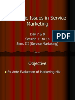 Day 7&8 Session 11 to 14 Strategic Issues in Service Marketing
