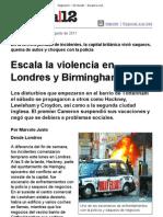 Página_12 __ El mundo __ Escala la violencia en Londres y Birmingham