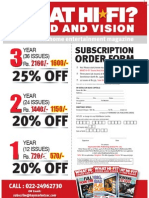 WHF Subscription Form