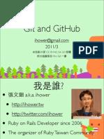 Git and GitHub - Ihower
