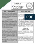 WMGS Newsletter Winter 2011-12