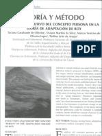 análisis evolutivo del concepto persona en la teoría de adaptacion de roy
