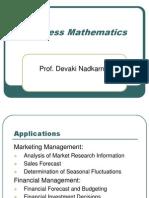 1.Business Mathematics