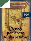 Recapitulatif Des Dons D&D 3.5