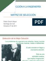 MTRIZ DE SELECCIÓN