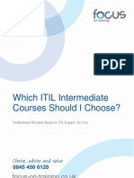 Which ITIL Intermediate Courses? 2.01