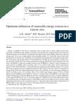 Optimum Utilization of Renewable Energy Sources in A