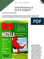 LaTeX e la formattazione di pseudocodice e sorgenti
