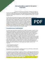 Materias primas para pulpa y papel en los países tropicales