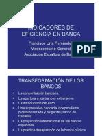 Banca - Indicadores de Eficiencia