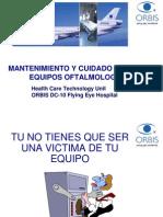 Mantenimiento y cuidados bàsicos de equipos oftalmològicos