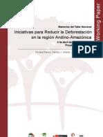 Iniciativas para reducir la deforestación en la región andino-amazónica