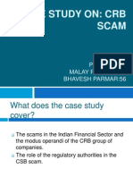21277186 Case Study on Crb Scam