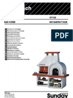 Assembly of Wood Fired Pizza Oven and Charcoal Grill Combo