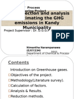 Estimation of GHG Emission in Kandy 1st