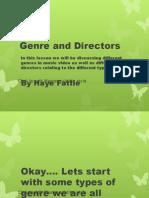 Genre and Directors powerpoint
