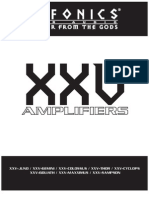 XXV 08 Amplifier Manual