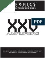 XXV 08 Amplifier Manual