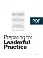 Preparing for Leaderful Practice (3)