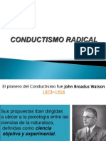 Tema 6. Abril Modelo Conductismo Radical