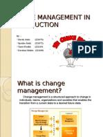 Change Management in Construction