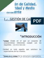 Diapositivas de Gestión de Calidad, Seguridad y Medio Ambiente