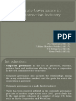 Corporate Governance in Construction Iindustry221115,221117,221122,221128