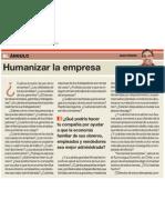 Humanizar la empresa de Juan Infante - El Comercio