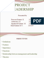 Project Leadership- Paveen,Aishwarya,Jagadeesh,Ramkumar