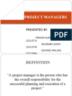 Role of Project Manager Final