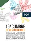 Programa 16ª Cumbre de Mercociudades