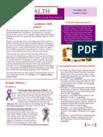 WEALTH - WIN Women's Health Policy Network Newsletter Nov 2011