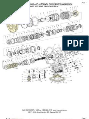 aod transmission schematic | clutch | valve  scribd