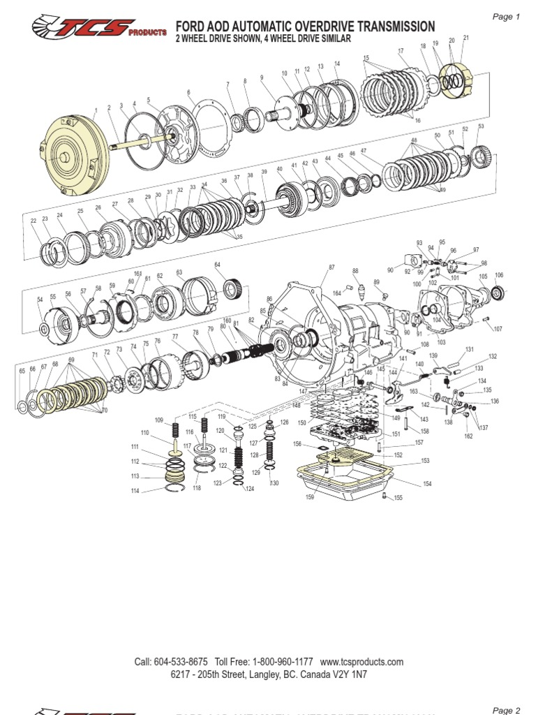 aod transmission schematic rh scribd com ford aode transmission diagrams ford aod transmission wiring diagram
