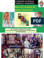 Control de Calidad de Drogas Vegetales por Q.F. Marilú Roxana Soto Vásquez